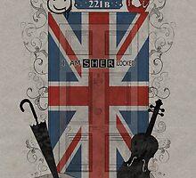 Sherlock Holmes inspired crest by koroa