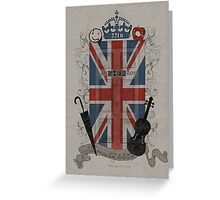 Sherlock Holmes inspired crest Greeting Card