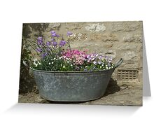 Flowers in a tub Greeting Card