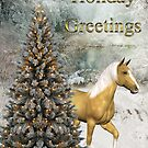 Holiday Greetings-Horse and Tree by Yesteryears