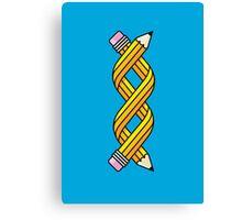 Creative Gene-ius (Yellow School Pencil) Canvas Print