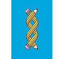 Creative Gene-ius (Yellow School Pencil) Photographic Print