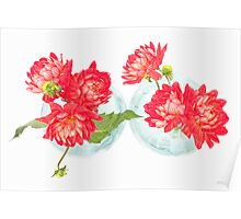 Dahlias in a vase... (3) Poster