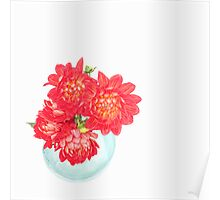 Dahlias in a vase... (5) Poster