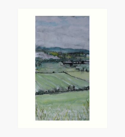 Perthshire, looking towards Dunsinane Art Print