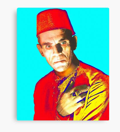 Boris Karloff in The Mummy Canvas Print