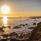 San Simeon, sunset by Philip Kearney