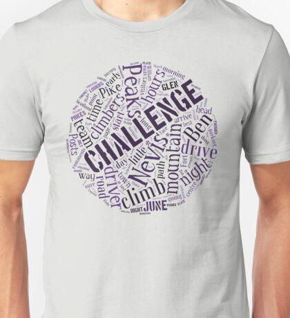 Three Peaks Word Cloud Unisex T-Shirt