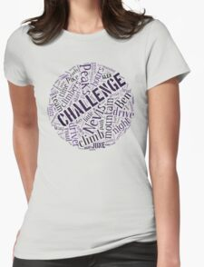 Three Peaks Word Cloud Womens Fitted T-Shirt