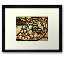 Antique Wrought Iron  Framed Print