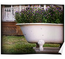 Antique Bathtub Flowers No. 2 floral nature photography Poster