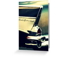 Black Bel Air vintage Chevy art photograph Greeting Card