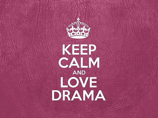 Keep Calm and Love Drama - Glossy Pink Leather by sitnica