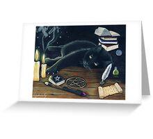 """Black magic"" Greeting Card"
