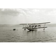 Flying Boat - Sea of Galilee near Tiberias - 1931 Photographic Print