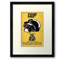 Full Metal Helmet Framed Print