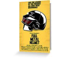 Full Metal Helmet Greeting Card