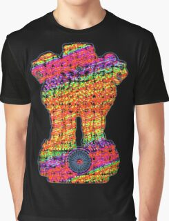 India emblem psychedelic Graphic T-Shirt