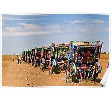Cadillac Ranch, Amarillo, Texas Poster