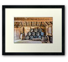Rum Barrels Framed Print