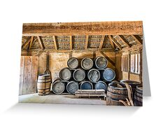Rum Barrels Greeting Card