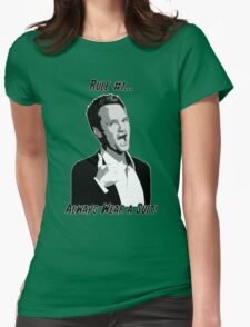 RULE NO. 1: ALWAYS WEAR A SUIT! Womens Fitted T-Shirt