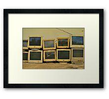 Analog rot Framed Print