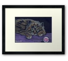 """""""Finished playing"""" Framed Print"""