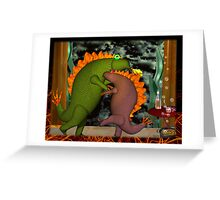 Monsters dancing in the privacy of their room by Valxart.com Greeting Card