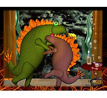 Monsters dancing in the privacy of their room by Valxart.com Photographic Print