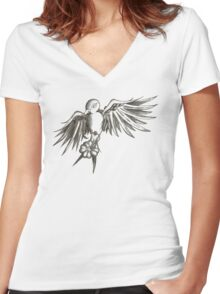 Sparrow and Clover Women's Fitted V-Neck T-Shirt