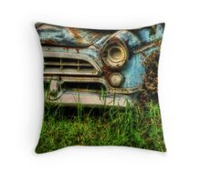 HDR Abandoned Car nature reclamation, rustic, rural decay photography Throw Pillow