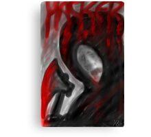 """HACKER"" Horror Poster Canvas Print"