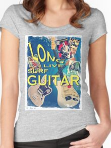 LONG LIVE SURF GUITAR Women's Fitted Scoop T-Shirt