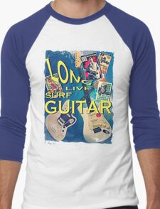 LONG LIVE SURF GUITAR Men's Baseball ¾ T-Shirt