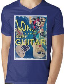 LONG LIVE SURF GUITAR Mens V-Neck T-Shirt