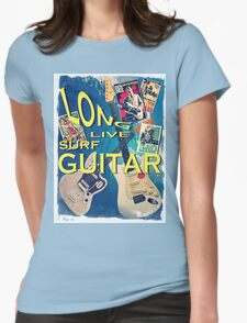 LONG LIVE SURF GUITAR Womens Fitted T-Shirt