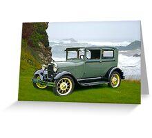1927 Ford Tudor Sedan Greeting Card