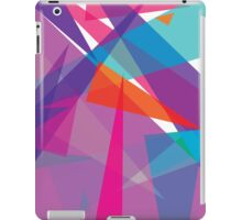 orange and blue triangular abstract iPad Case/Skin