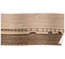 Bridge in Sepia Poster