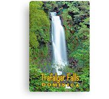 Trafalgar falls Dominica  Canvas Print