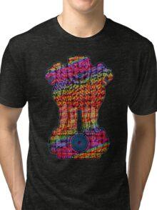 India emblem  hippie Tri-blend T-Shirt