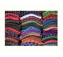 Piles of Handmade Scarves Art Print