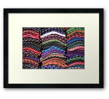 Piles of Handmade Scarves Framed Print
