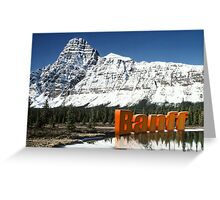 Rockies Mountains Banff Canada Greeting Card