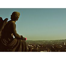 Angels & Sculptures - Glasgow's Whitelaw Angel Photographic Print