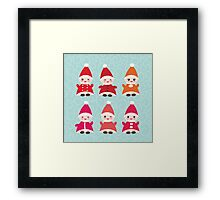Merry Christmas, Happy New Year card, Funny gnomes Framed Print