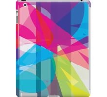 blue, pink  +  yellow / green - abstract case design iPad Case/Skin