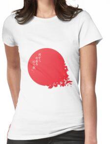 Japan's Sakura Womens Fitted T-Shirt