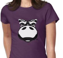 Hippo Cartoon  Womens Fitted T-Shirt
